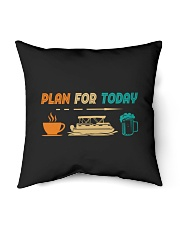 "PONTOON BOAT GIFT - PONTOON PLAN FOR TODAY Indoor Pillow - 16"" x 16"" thumbnail"