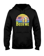 BEER SHIRT FUNNY SAYING - BEER ME Hooded Sweatshirt thumbnail