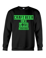 CRAFT BEER LOVER - BEER LANGUAGE Crewneck Sweatshirt thumbnail