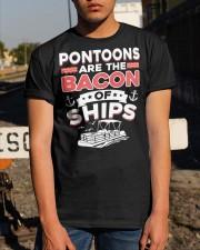 PONTOON BOAT GIFT - BACON OF SHIPS Classic T-Shirt apparel-classic-tshirt-lifestyle-29