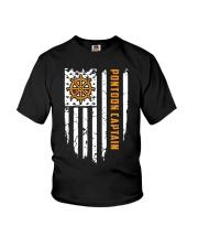 PONTOON BOAT GIFT - CAPTAIN FLAG Youth T-Shirt thumbnail