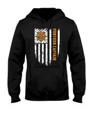 PONTOON BOAT GIFT - CAPTAIN FLAG Hooded Sweatshirt thumbnail