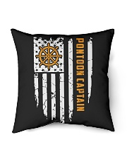"PONTOON BOAT GIFT - CAPTAIN FLAG Indoor Pillow - 16"" x 16"" thumbnail"