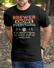 He - A Brewer Knows Everything Classic T-Shirt apparel-classic-tshirt-lifestyle-front-52