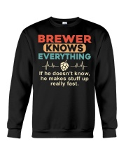 He - A Brewer Knows Everything Crewneck Sweatshirt thumbnail