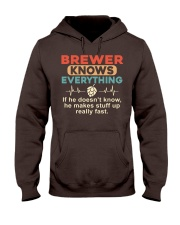 He - A Brewer Knows Everything Hooded Sweatshirt thumbnail