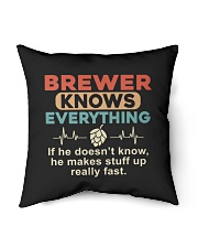 "He - A Brewer Knows Everything Indoor Pillow - 16"" x 16"" thumbnail"