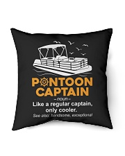 "PONTOON CAPTAIN DEFINITION BACK Indoor Pillow - 16"" x 16"" thumbnail"