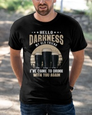 CRAFT BEER LOVER - HELLO DARKNESS MY OLD FRIEND Classic T-Shirt apparel-classic-tshirt-lifestyle-front-50