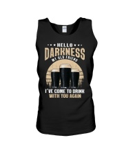 CRAFT BEER LOVER - HELLO DARKNESS MY OLD FRIEND Unisex Tank thumbnail