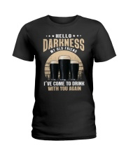 CRAFT BEER LOVER - HELLO DARKNESS MY OLD FRIEND Ladies T-Shirt thumbnail