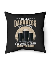 """CRAFT BEER LOVER - HELLO DARKNESS MY OLD FRIEND Indoor Pillow - 16"""" x 16"""" thumbnail"""