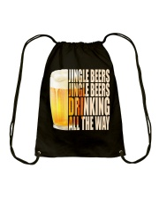 CRAFT BEER LOVER - JINGLE BEER Drawstring Bag thumbnail