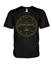 PILOT AVIATION - COMPASS  V-Neck T-Shirt thumbnail