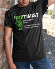 CRAFT BEER AND BREWING HOPTIMIST DEFINITION Classic T-Shirt apparel-classic-tshirt-lifestyle-27