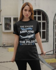 PILOT GIFT - THE PILOT IS ITS SOUL Classic T-Shirt apparel-classic-tshirt-lifestyle-19