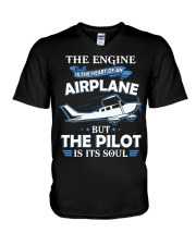 PILOT GIFT - THE PILOT IS ITS SOUL V-Neck T-Shirt thumbnail
