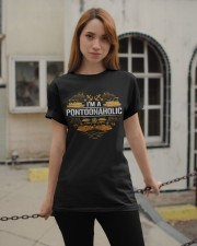PONTOON BOAT GIFTS - I'M A PONTOONAHOLIC Classic T-Shirt apparel-classic-tshirt-lifestyle-19
