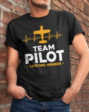 PILOT AVIATION AVIATION LOVER - PILOT TEAM Classic T-Shirt apparel-classic-tshirt-lifestyle-26