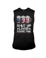 SHUT UP LIVER YOU'RE FINE AMERICAN FLAG Sleeveless Tee thumbnail