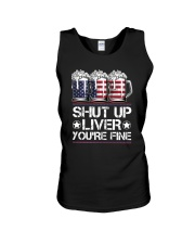 SHUT UP LIVER YOU'RE FINE AMERICAN FLAG Unisex Tank thumbnail