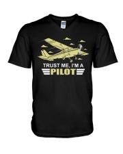 PILOT GIFTS  - TRUST ME I AM A PILOT V-Neck T-Shirt thumbnail