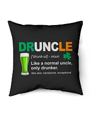 "ST PATRICK'S DAY - DRUNCLE DEFINITION Indoor Pillow - 16"" x 16"" thumbnail"