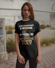 PONTOON BOAT GIFT - JULY PONTOON WOMAN Classic T-Shirt apparel-classic-tshirt-lifestyle-18