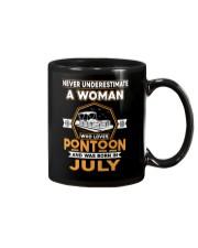 PONTOON BOAT GIFT - JULY PONTOON WOMAN Mug thumbnail