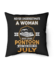 "PONTOON BOAT GIFT - JULY PONTOON WOMAN Indoor Pillow - 16"" x 16"" thumbnail"