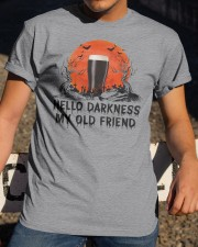 HALLOWEEN BREWERY BEER - HELLO DARKNESS Classic T-Shirt apparel-classic-tshirt-lifestyle-28