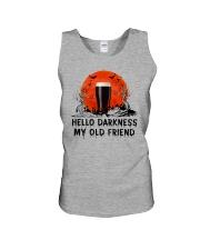 HALLOWEEN BREWERY BEER - HELLO DARKNESS Unisex Tank thumbnail