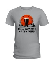 HALLOWEEN BREWERY BEER - HELLO DARKNESS Ladies T-Shirt thumbnail