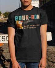 TRULY DRINK BOUR-BON DEFINITION Classic T-Shirt apparel-classic-tshirt-lifestyle-29