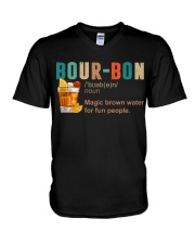 TRULY DRINK BOUR-BON DEFINITION V-Neck T-Shirt tile