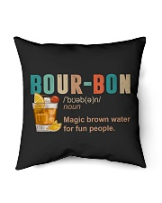 "TRULY DRINK BOUR-BON DEFINITION Indoor Pillow - 16"" x 16"" thumbnail"