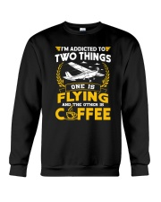 PILOT GIFTS - FLYING AND COFFEE Crewneck Sweatshirt thumbnail