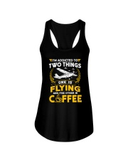 PILOT GIFTS - FLYING AND COFFEE Ladies Flowy Tank thumbnail