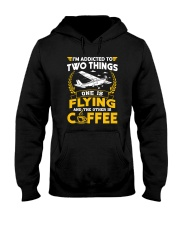 PILOT GIFTS - FLYING AND COFFEE Hooded Sweatshirt tile