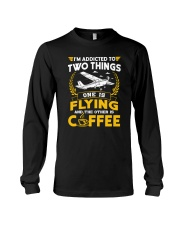 PILOT GIFTS - FLYING AND COFFEE Long Sleeve Tee tile