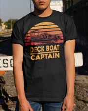 DECK BOAT GIFT - DECK BOAT CAPTAIN Classic T-Shirt apparel-classic-tshirt-lifestyle-29