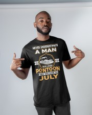 PONTOON BOAT GIFT - JULY PONTOON MAN Classic T-Shirt apparel-classic-tshirt-lifestyle-front-32