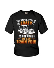 PONTOON BOAT GIFT - CRAZY Youth T-Shirt tile
