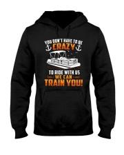 PONTOON BOAT GIFT - CRAZY Hooded Sweatshirt thumbnail