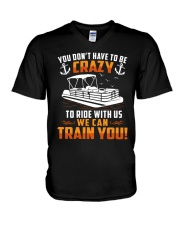 PONTOON BOAT GIFT - CRAZY V-Neck T-Shirt thumbnail