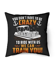 "PONTOON BOAT GIFT - CRAZY Indoor Pillow - 16"" x 16"" thumbnail"