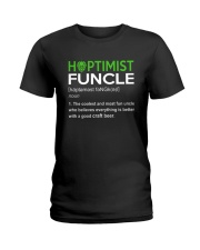 CRAFT BEER AND BREWING HOPTIMIST FUNCLE Ladies T-Shirt thumbnail