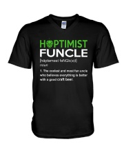 CRAFT BEER AND BREWING HOPTIMIST FUNCLE V-Neck T-Shirt thumbnail