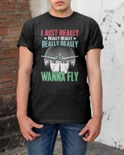 GREAT GIFT FOR PILOT - WANNA FLY Classic T-Shirt apparel-classic-tshirt-lifestyle-31
