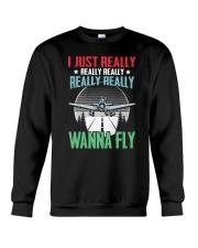 GREAT GIFT FOR PILOT - WANNA FLY Crewneck Sweatshirt thumbnail